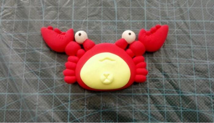 粘土制作可爱的小螃蟹手工diy教程,简单易学