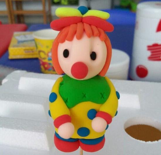 超轻粘土制作小丑玩偶手工diy教程