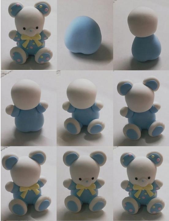 超轻粘土niantu制作小熊小兔子动物教程diy图解